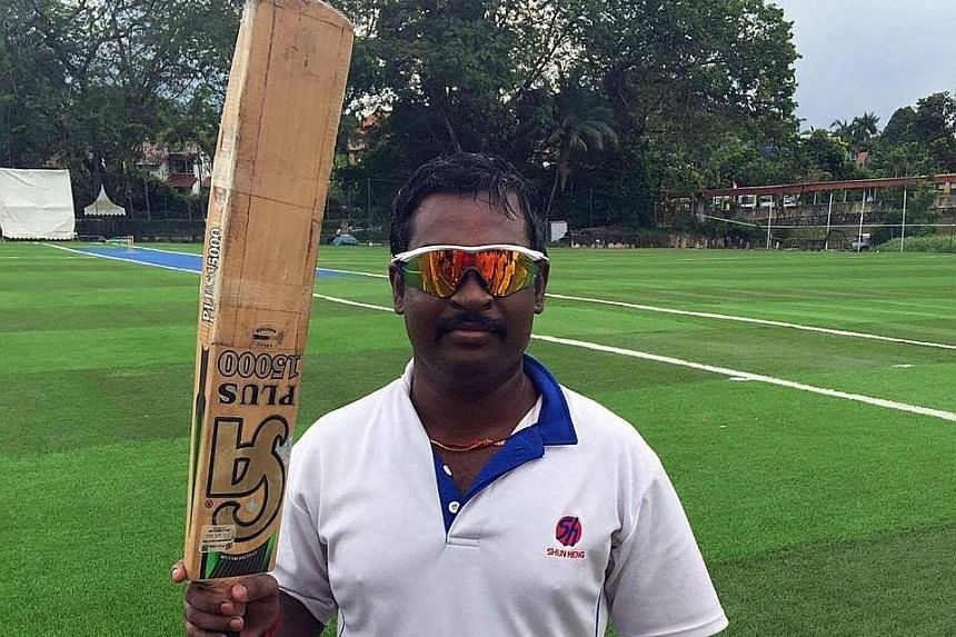 Rajendran Vijayababu had 44 boundaries and five sixes in his 102-ball knock yesterday.