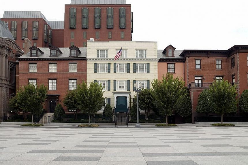 The exterior of Blair House.