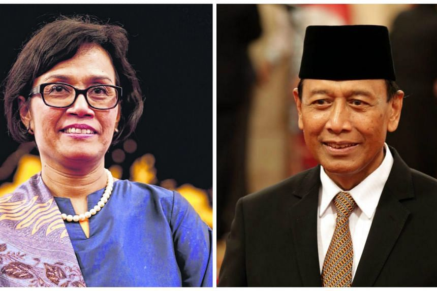 Sri Mulyani (left) and Wiranto.  PHOTOS: EPA
