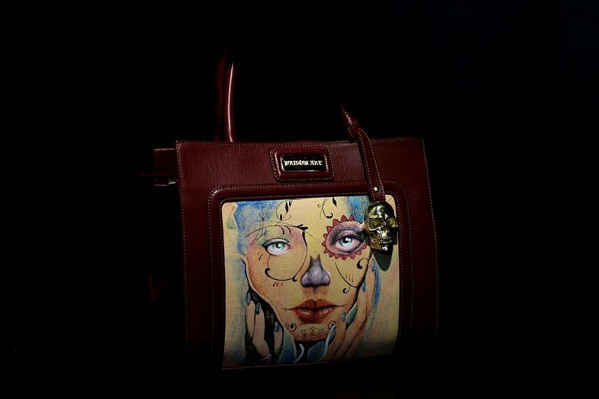 A bag is displayed at a Prison Art store in the upscale neighbourhood of Polanco, Mexico City, on June 14.
