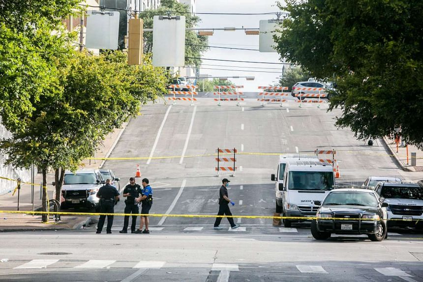 Police are looking for a man in a shooting incident in Austin's nightclub area that killed one woman and wounded four others.