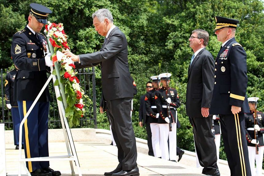 PM Lee Hsien Loong also laid a wreath at the Tomb of the Unknown Soldier at Arlington National Cemetery.