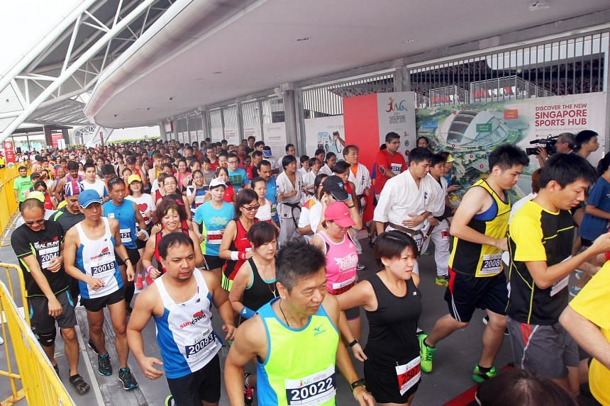 The Singapore National Games (SNG) kicked off last year with the Stadium Run with about 1,000 runners, running a total of five rounds around the stadium.