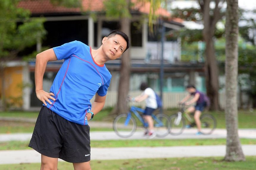 Manager of student development at Temasek Polytechnic Tony Halim, who reached his peak weight of 94kgin July 2014, uses wearable technology and mobile apps to monitor his physical activities and calorie intake.