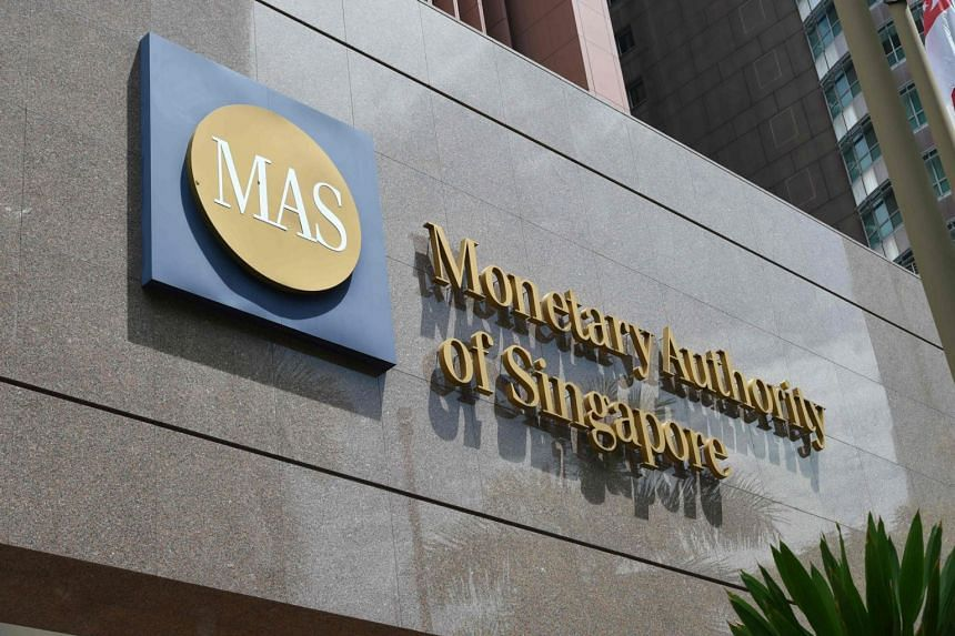 The logo of the Monetary Authority of Singapore is seen on its main building in Singapore on May 24, 2016.