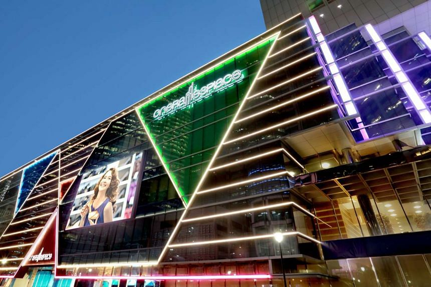 A file picture of One Raffles Place shopping mall. PHOTO: OUE