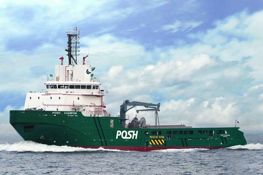 A file picture of PACC Offshore Services Holdings (Posh) vessel. PHOTO: PACC