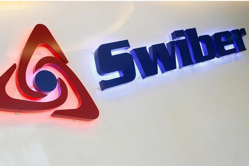 A Swiber logo at their office in Singapore July 10, 2013.