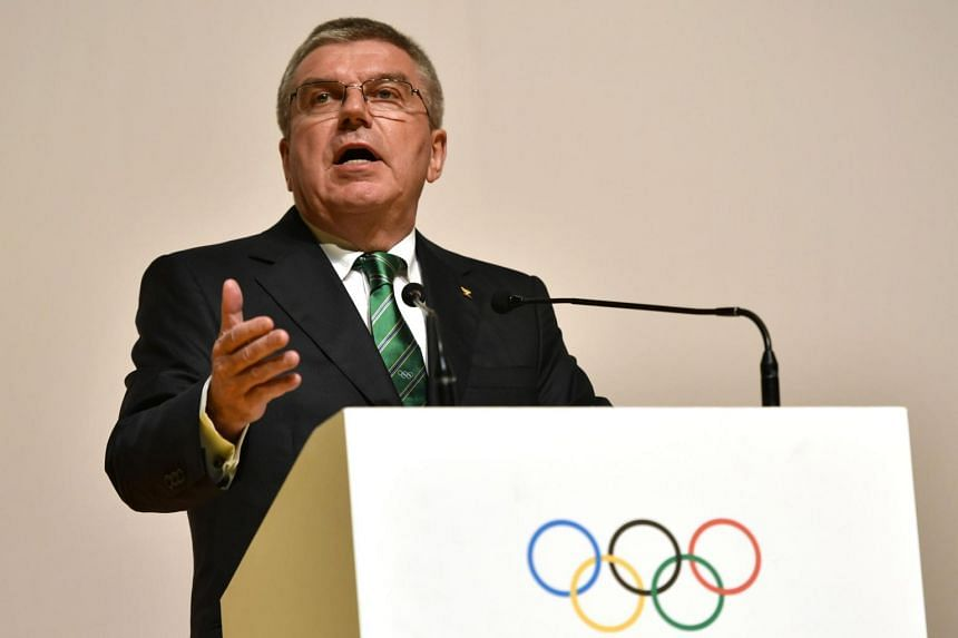 International Olympic Committee President Thomas Bach speaks during the opening ceremony of the 129th International Olympic Committee session  in Rio de Janeiro on August 1.