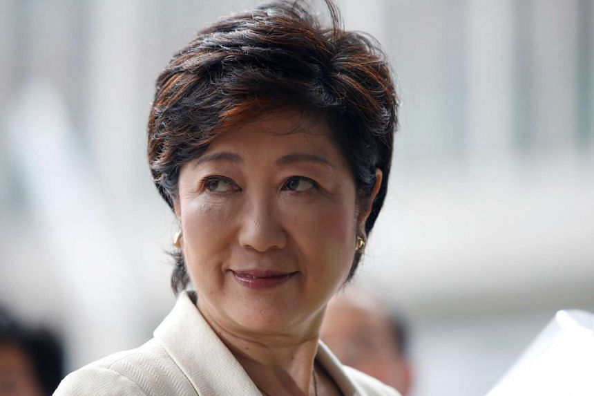Tokyo's first woman governor Yuriko Koike arrives at Tokyo Metropolitan Government Building in Tokyo, Japan, August 2.