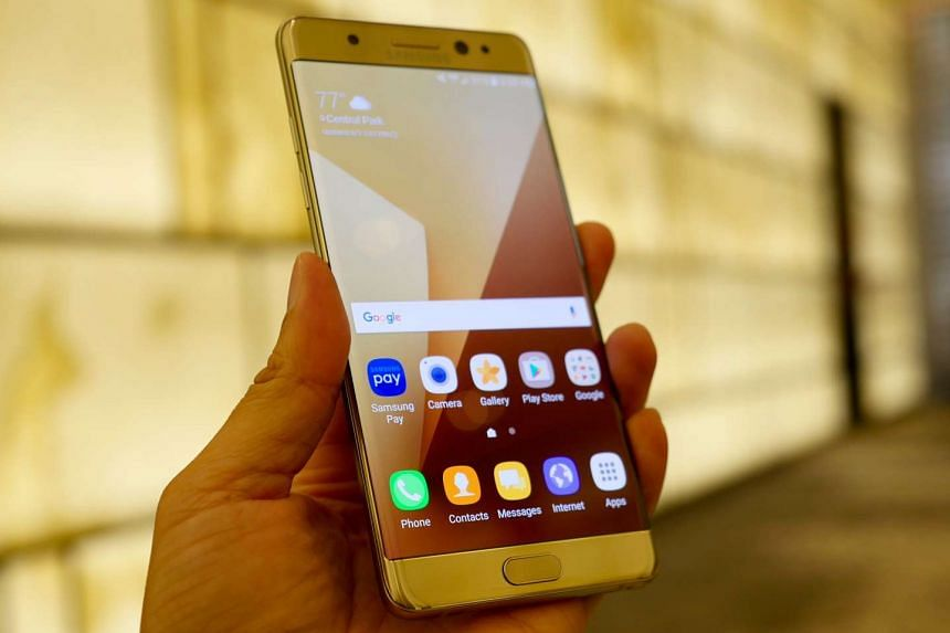 The new Samsung Galaxy Note7 will be available in Singapore on Aug 20.