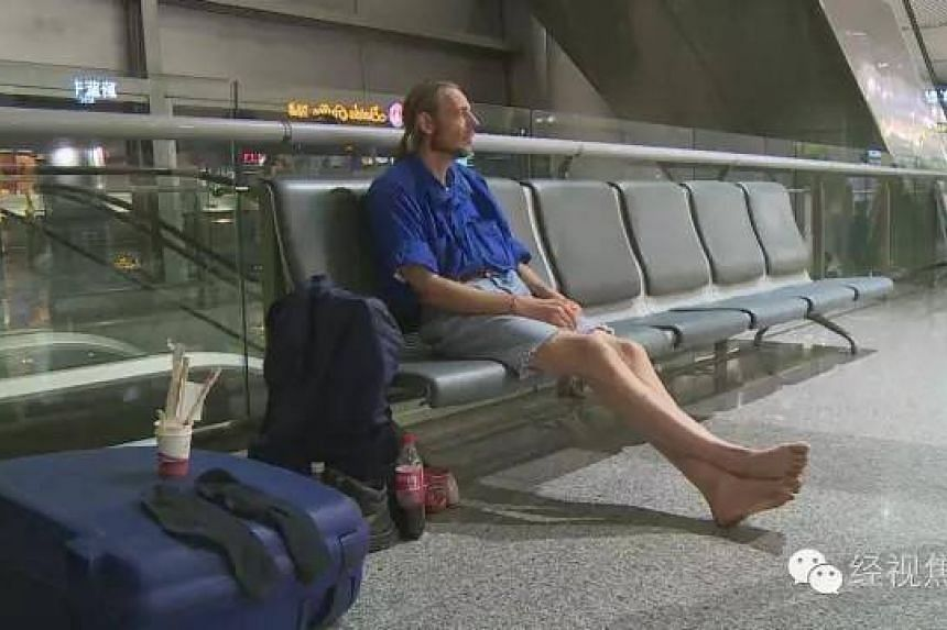 Mr Alexander Peter Cirk stayed at Huanghua International Airport for 10 days, waiting for a woman he met on a social media website.