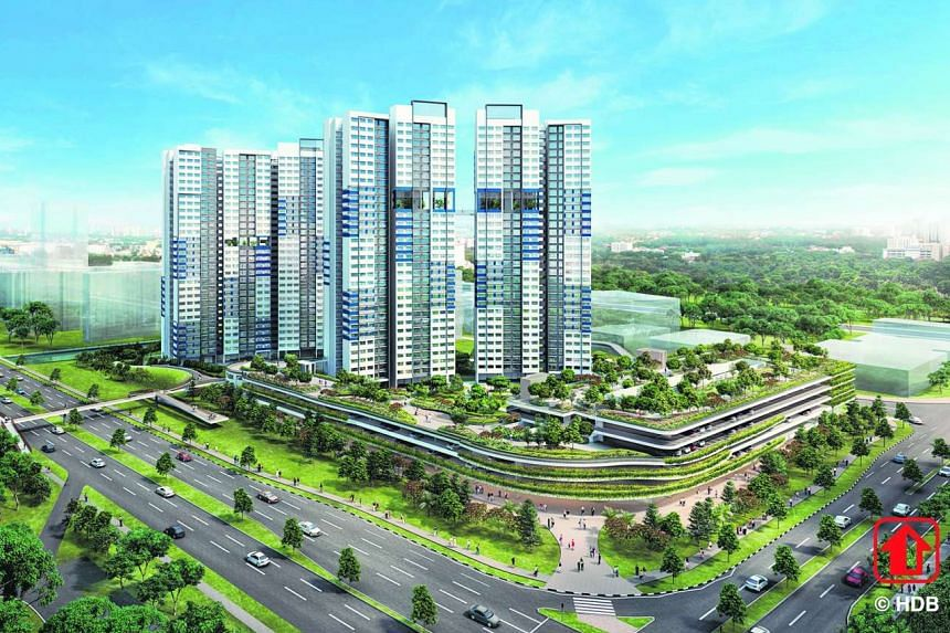 Artist's impression of a Selective En bloc Redevelopment Scheme replacement site at West Coast Link.