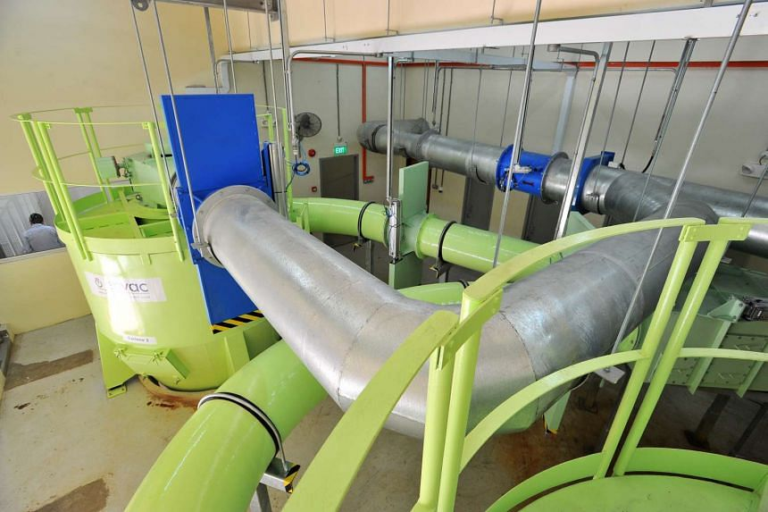The pneumatic waste conveyance system (PWCS) at Jurong's Yuhua estate since early May 2015.