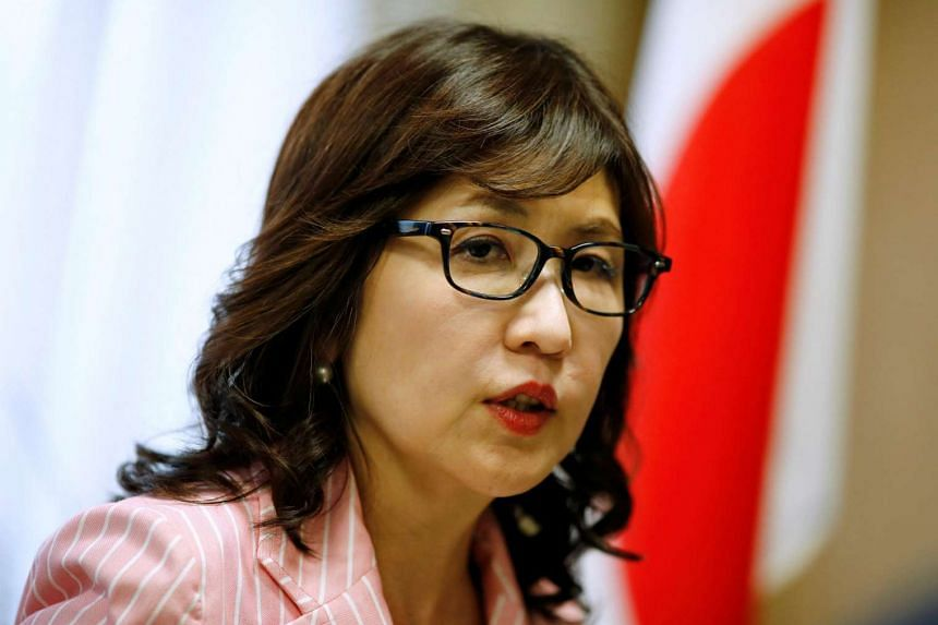 Tomomi Inada of the ruling Liberal Democratic Party (LDP) speaks during an interview at her office in Tokyo, Japan on June 15.