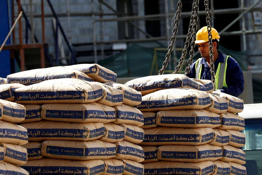 A labourer works at the construction site of a building in Riyadh, Saudi Arabia on Aug 2, 2016.