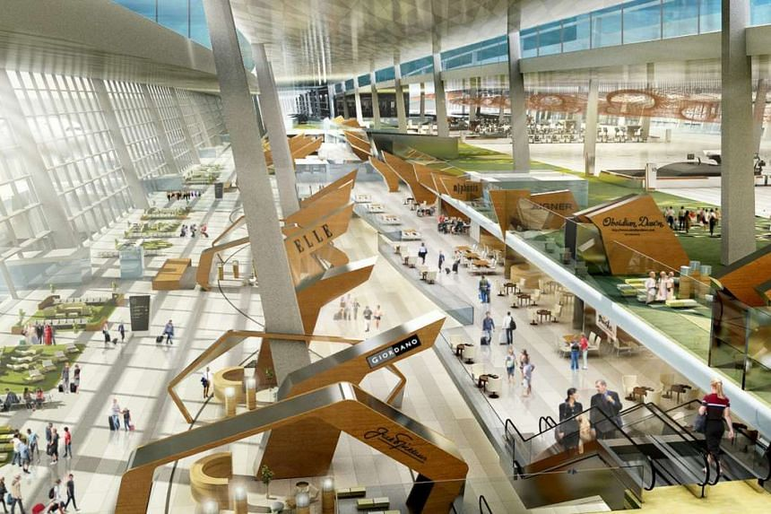 An artist's impression of the Soekarno-Hatta International Airport's Terminal 3.