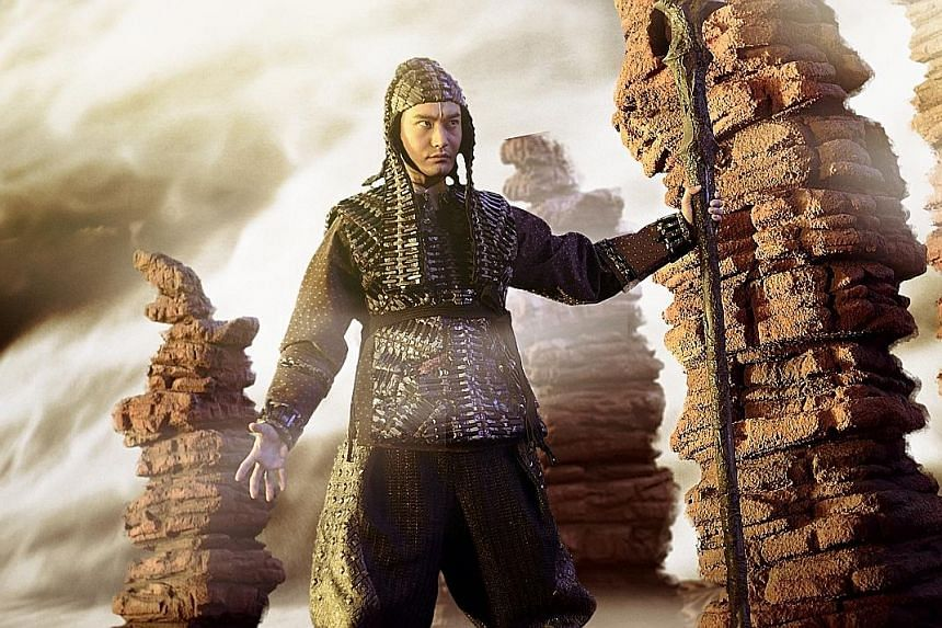 Actor Huang Xiaoming plays deity Erlang Shen in League Of Gods.