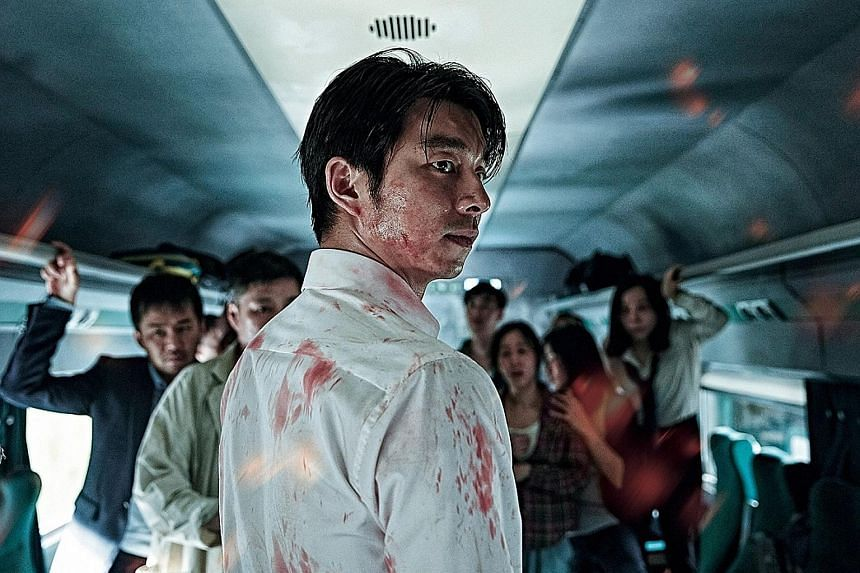 Gong Yoo plays a businessman in Train To Busan, where a virus outbreak turns passengers into zombies.
