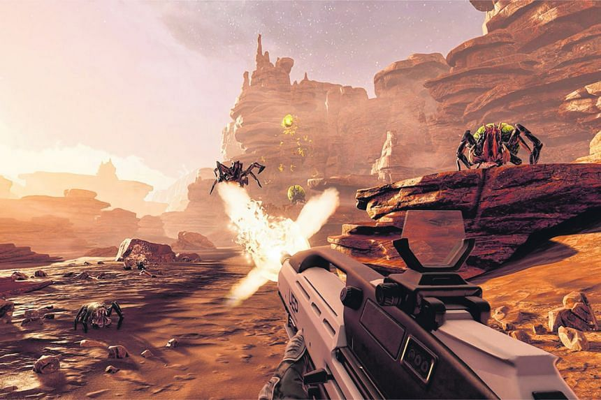 In Farpoint, you and your comrades warp to an unknown planet - a barren Martian world with endless stretches of red sand, howling wind and an array of nasty creatures to kill.