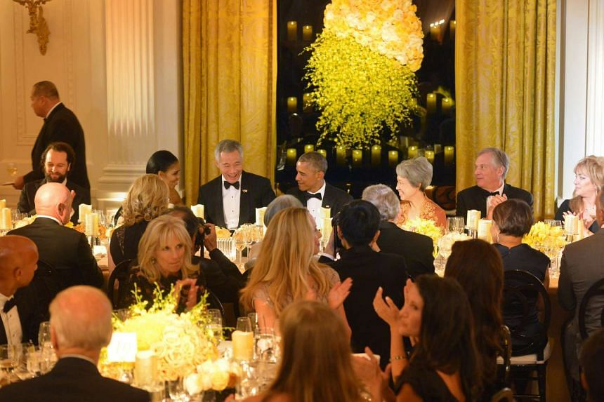Guests at the White House state dinner on Aug 2.