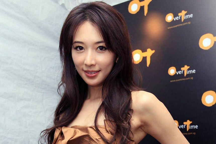 Taiwanese model-actress Chiling Lin during the opening of OverTime, a bar at Dempsey Hill.