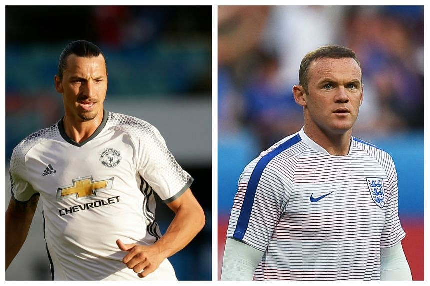 Zlatan Ibrahimovic (left) says he is excited by the prospect of playing alongside Wayne Rooney.