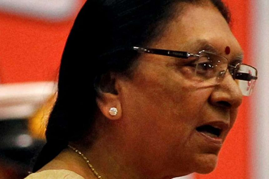 Ms Patel (above) resigned on Monday following protests by the Dalit community, triggering a search for a successor.