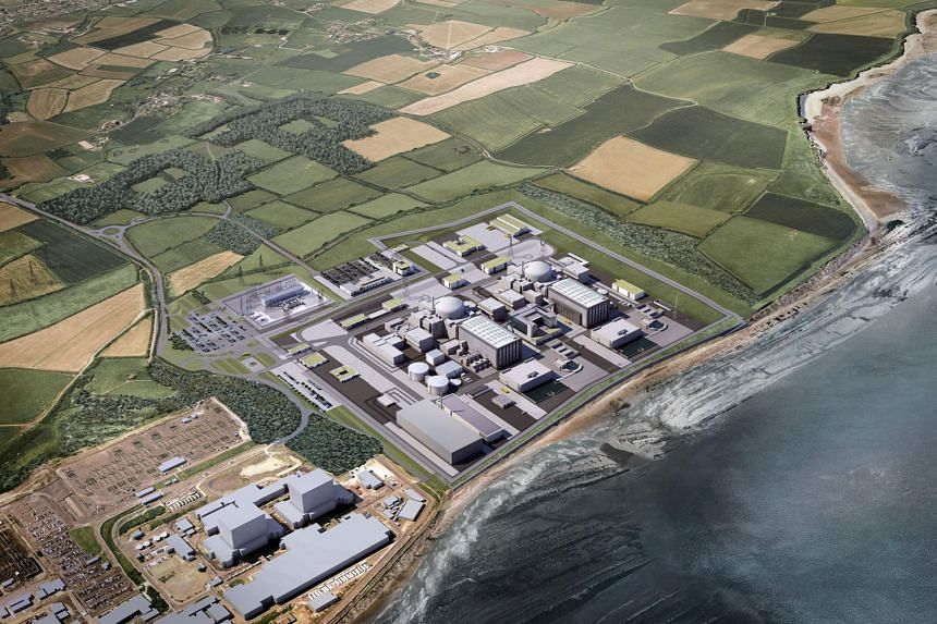 A computer-generated image of the French energy producer EDF's proposed two nuclear reactors at their Hinkley Point power plant in south-west England. The signing ceremony for the $32 billion project, to be built by France with Chinese investment, was mea