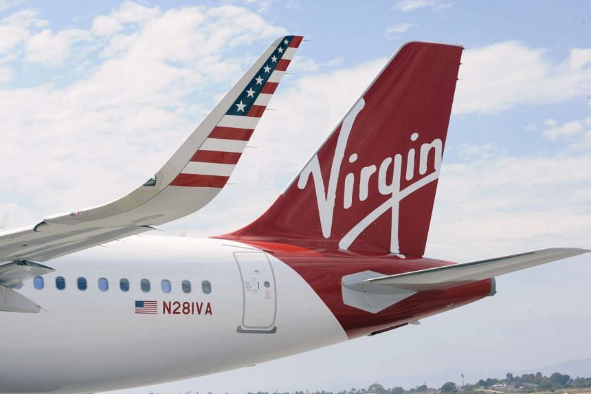 The Virgin America livery on a plane in a photo from the company's website.