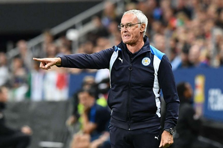 Leicester's head coach Claudio Ranieri during the 2016 International Champions Cup friendly football match between FC Barcelona and Leicester City at Friends Arena on August 3, 2016 in Solna, Sweden.