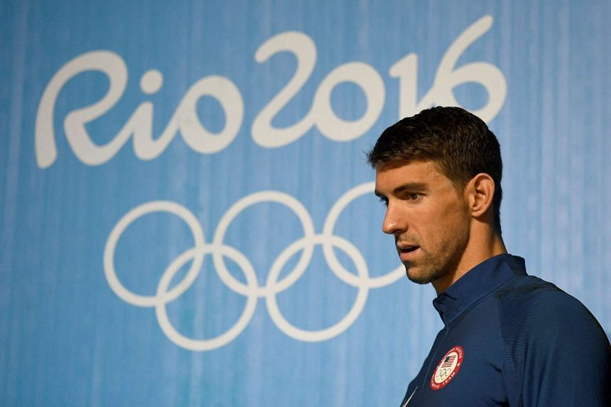 US swimmer Michael Phelps holds a press conference on Aug 3, 2016 in Rio de Janeiro.