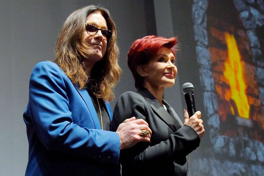 Ozzy and wife Sharon attend an entertainment event in Hollywood, California, on May 12, 2016.