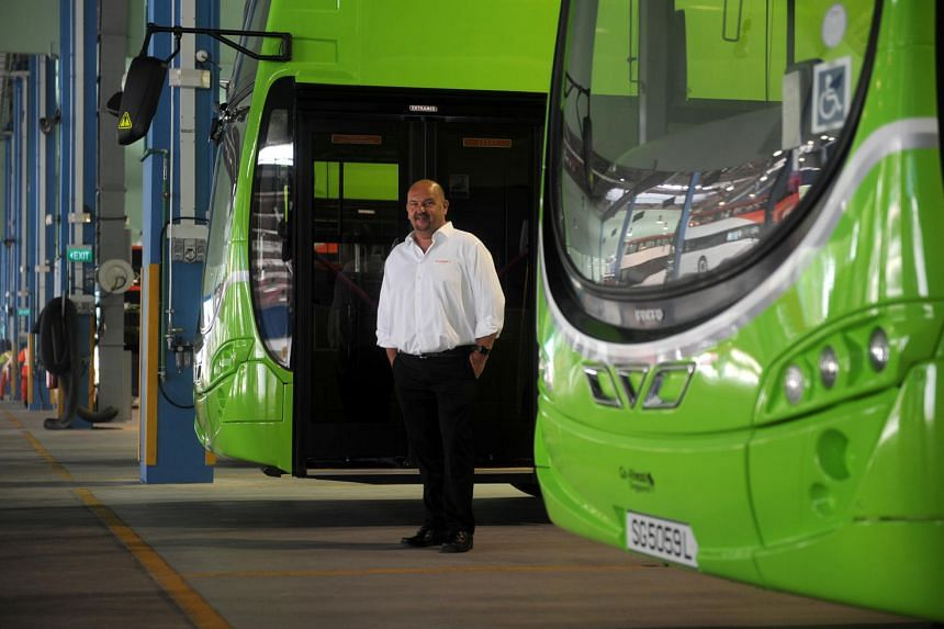 Nigel Wood, managing director of Go-Ahead Singapore, Singapore's fourth public bus operator.