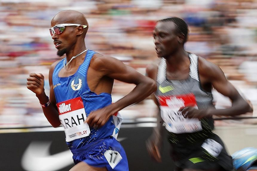 Britain's Mo Farah on his way to victory in the 5,000m race at the London Anniversary Games last month. He has felt harshly done by for standing by his coach Alberto Salazar, who has been embroiled in doping allegations.