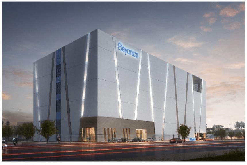 An artist's impression of a five-storey production facility to be developed  by AIMS AMP Capital Industrial Reit in Marsiling.