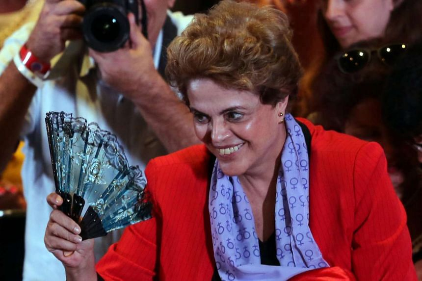 Rousseff attends a meeting with women from pro-democracy movements in Sao Paulo, Brazil, July 8, 2016.