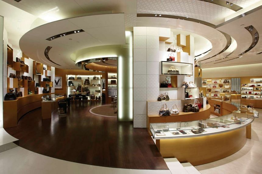 The Louis Vuitton boutique at Ion Orchard.