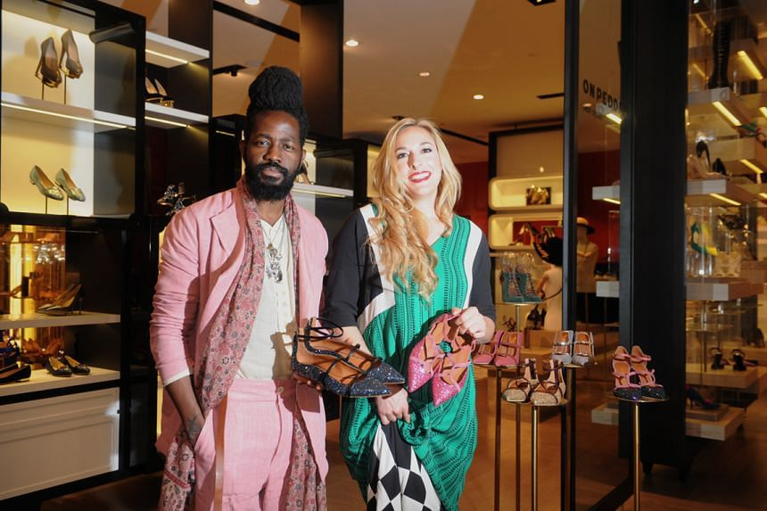 Malone Souliers co-founders Roy Luwolt and Mary Alice Malone at the On Pedder store in Scotts Square, where their shoes are sold.