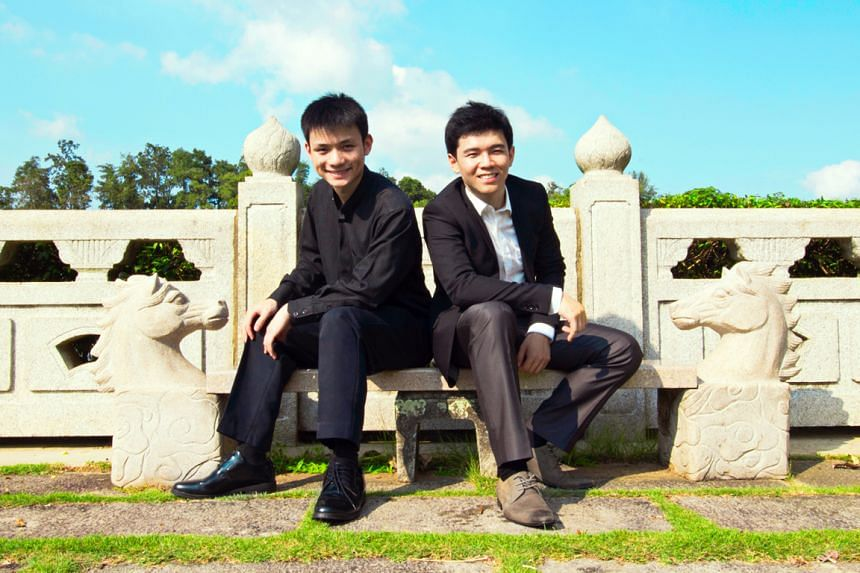 Guest performers at the concert include (above from left) violinist Gabriel Ng and pianist Victor Ong.