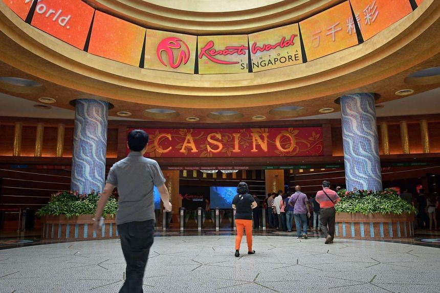 The casino entrance of Resorts World Sentosa on June 19, 2014.