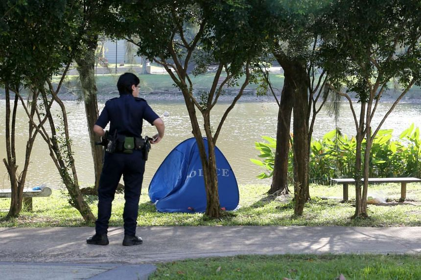 SCDF officers found a body floating near the shore, and manually retrieved it.
