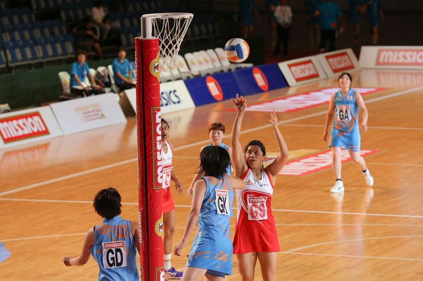 Singapore's goal shooter Natalie Long in a match against Japan on Sept 7, 2016.