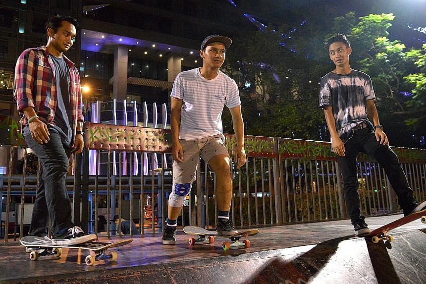 Brothers and skateboarders (from left) Feroze, Farris and Firdaus Rahman could be among Team Singapore's medal hopefuls in the 2020 Games, if a National Sport Association for the sport is established. Of the new Olympic sports, only sport climbing, k