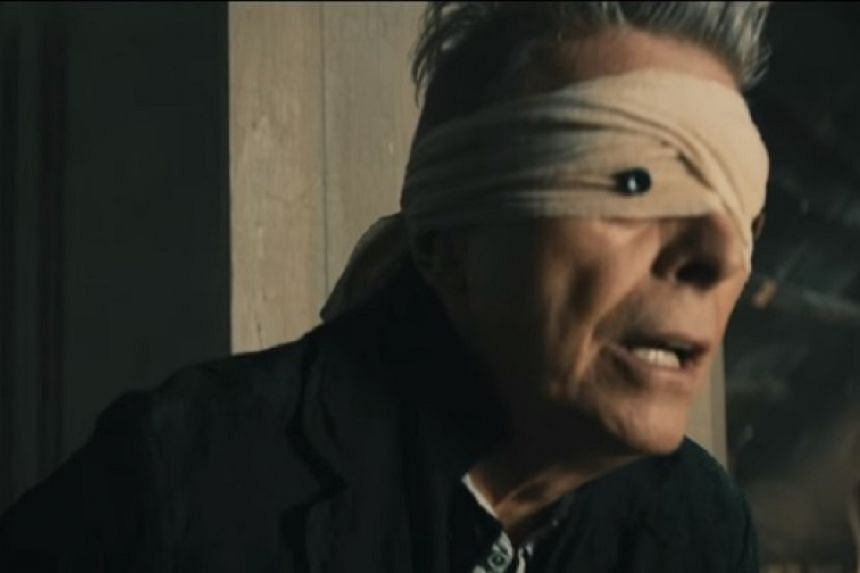 Late musician David Bowie in a still from the video for the song Blackstar.