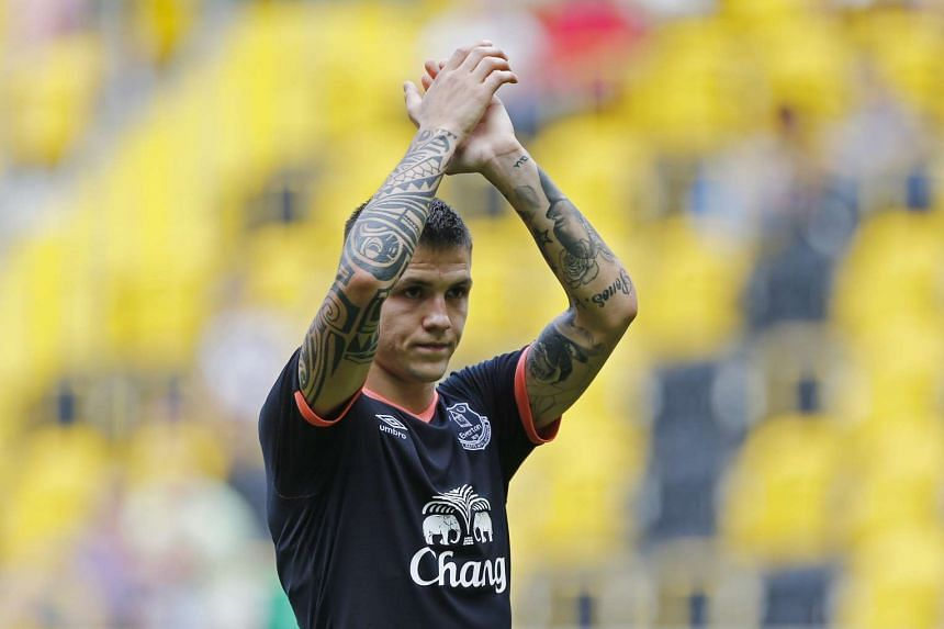 Everton's Bosnian midfielder Muhamed Besic is facing six months on the sidelines with a knee injury.