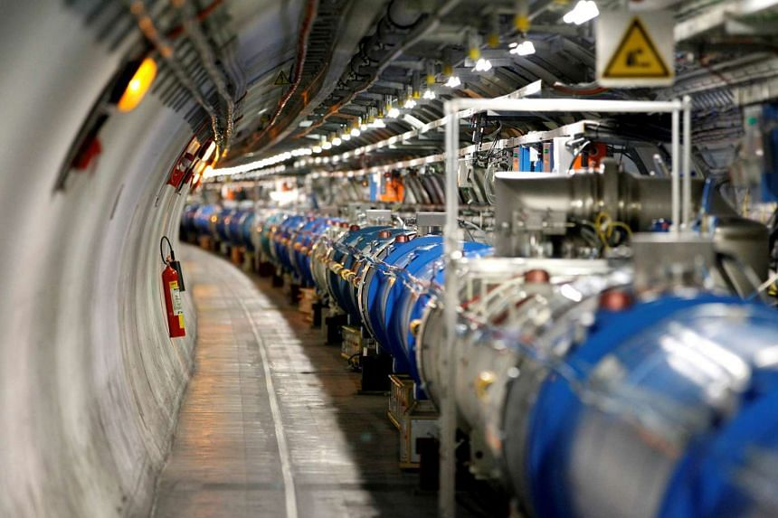 A general view of the Large Hadron Collider in a 2014 file photo.