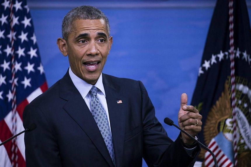 US President Barack Obama speaks during a press conference in the briefing room at the Pentagon in Arlington, Virginia, USA on Aug 4, 2016.