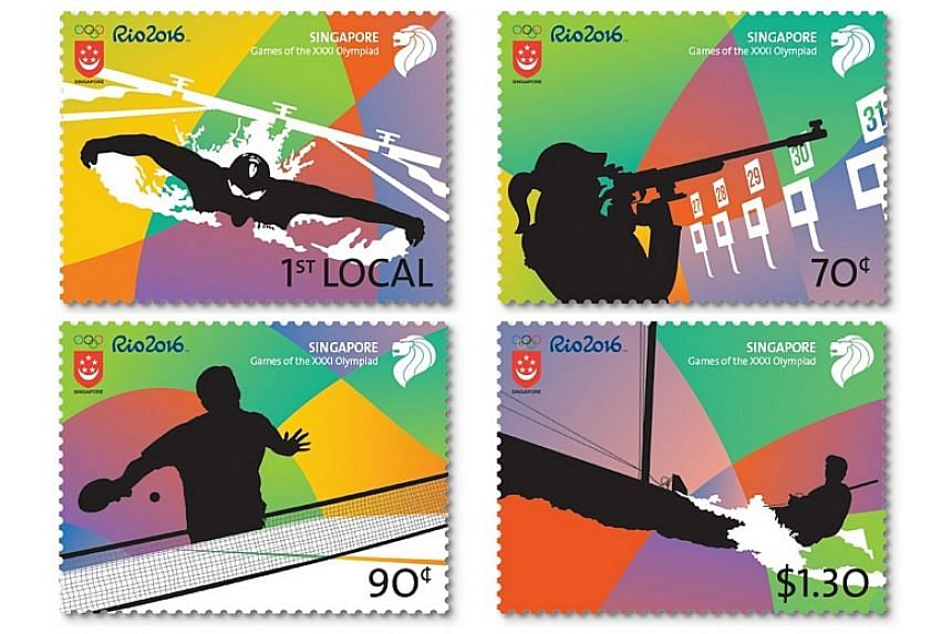 A new stamp set titled Games of the XXXI Olympiad was launched on Friday (Aug 5) in celebration of the Rio 2016 Summer Olympic Games.