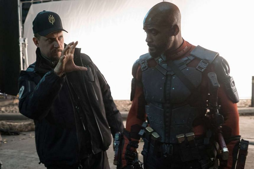 David Ayer (left) directing Will Smith in Suicide Squad.